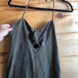 Elevenses green romper/jumpsuit, halter top size 4